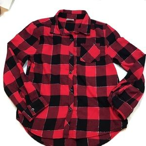 Jumping Bean size 7 buffalo plaid shirt